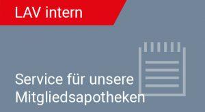 Kachel LAV Intern - Service Mitgliedsapotheken